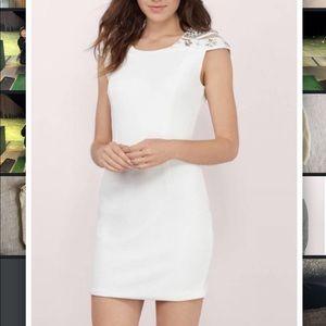 Embellished classy mini dress